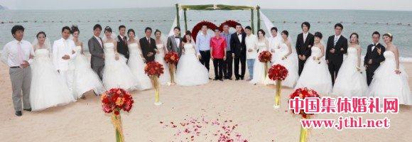 泰国芭提雅海滩集体婚礼圆满举行