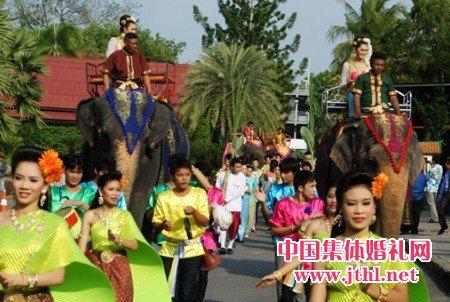 泰国集体婚礼在芭堤雅东芭乐..