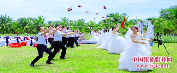 2017年10月19日三亚集体婚礼:
