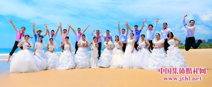 2018年8月17日三亚集体婚礼:..