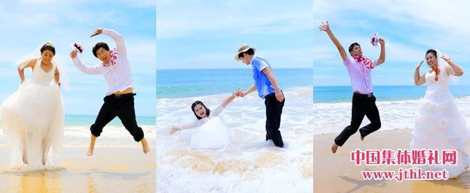 2017年8月21日三亚集体婚礼:..